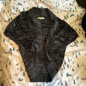 Black and white knitted sweater cardigan from LOFT